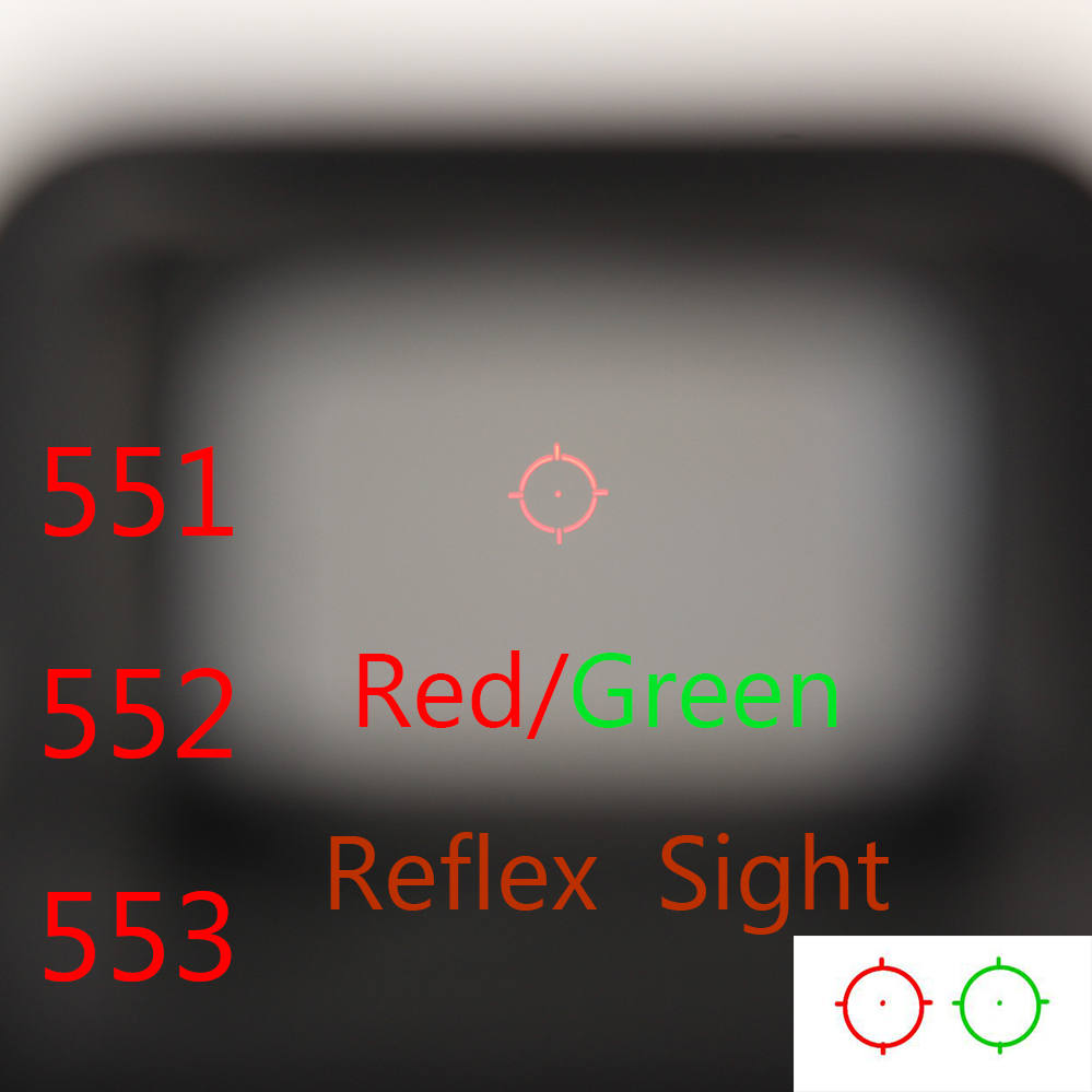 551 552 553 Red Green Dot Holographic Sight Scope Hunting Red Dot Reflex Sight Rifle Scope With 20mm Rail Mount For Airsoft Gun el 1400 holographic red dot sight reflex sight 21mm rail mirino laser per carabina hunting optica scope