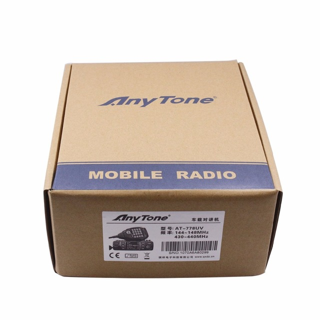 Anytone at-778uv dual band transceiver mini mobile radio vhf:136-174 uhf:400-480mhz two way and amateur radio walkie talkie ham