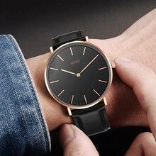 2019 addies mens waterproof watches business quartz watch men leather strap luxury brand wristwatch hardlex