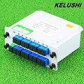 KELUSHI Cassete Caixa de Divisor De Fibra Óptica Divisor 1x16 PLC Splitter 16 Portas Ramificação De Inserção do Cartão Dispositivo Frete Grátis