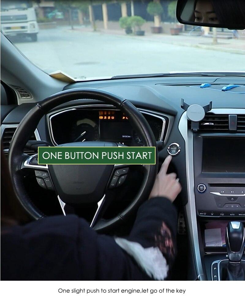 SmartPhone à Deux Voies Système D'alarme de Voiture Clé Intelligente PKE D'entrée Sans Clé Système Push Verrouillage Central À Distance Contrôle Commencer À Arrêter la Voiture moteur