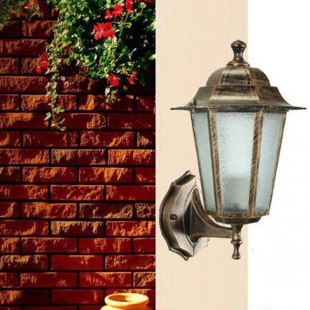 Antique Garden Light Sconce Aluminum Outdoor Lighting Vintage Wall Lamps Balcony Fixtures Landscape