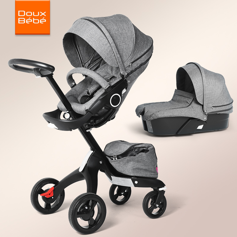 High landscape baby stroller can sit reclining folding shock absorber imported brand baby stroller