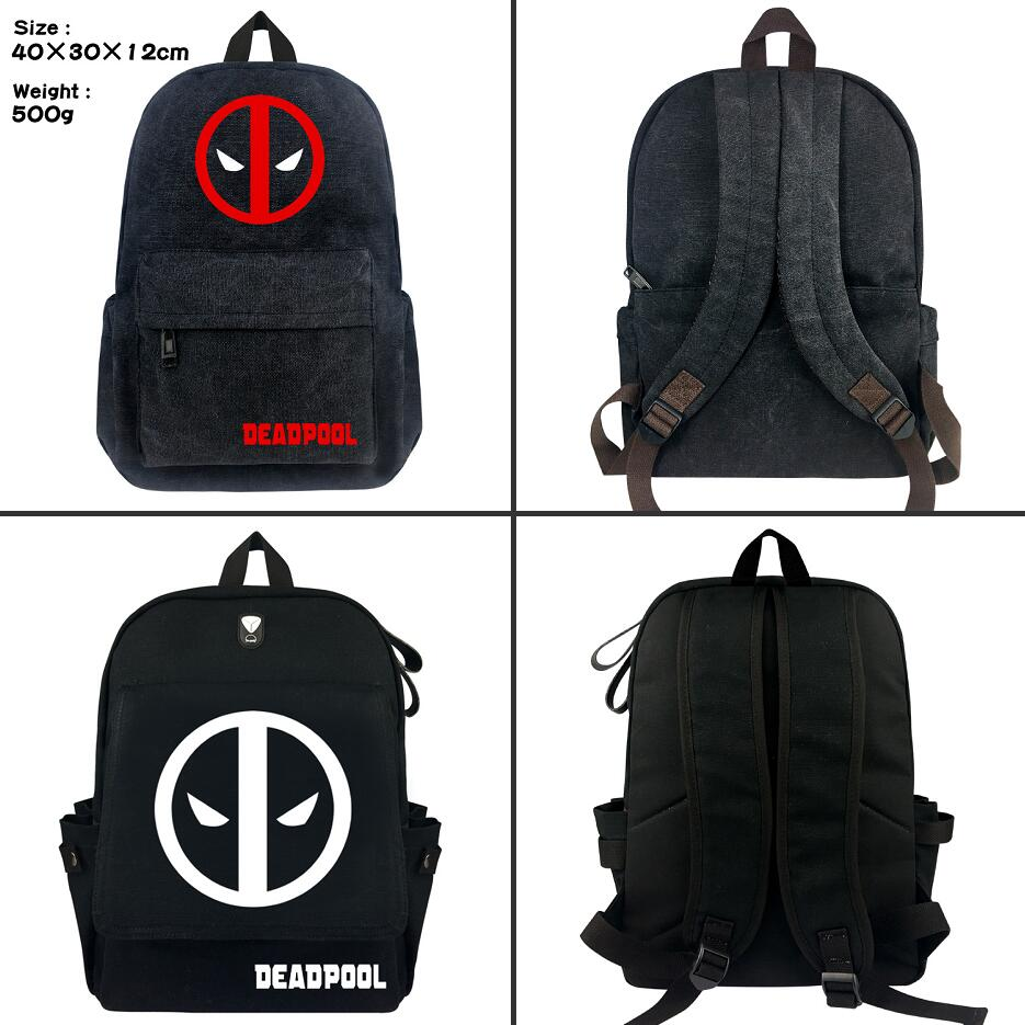 Marvel Superhero Deadpool 2 Wade student School bag Casual canvas Backpack  Fashion zip Rucksack Travel bag Shoulder Bag Bookbag b6f90e78d1a3e