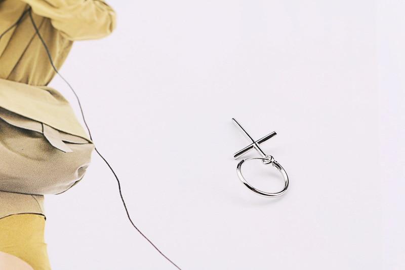 Cross Drop Earrings For Women Men Trend 925 Sterling Silver Fasion Jewellery Accessories Brinco Oorbellen Earring eh1191