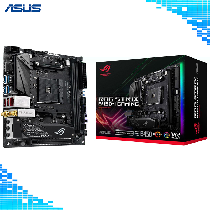 Asus ROG STRIX B450-I GAMING Motherboard AMD B450 socket AM4 17.0x17.0cm Mini-ITX E-Sports player Motherboard цена