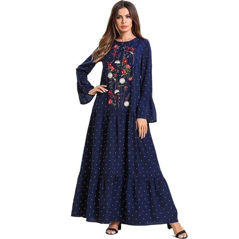 2019 Abayas For Women Kaftan Qatar Uae Oman Bangladesh Muslim Hijab Dress Jilbab Robe Abaya Dubai Caftan Turkey Islamic Clothing