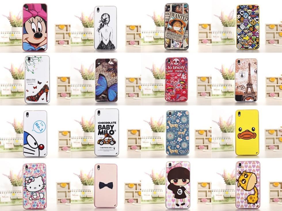 1 X New cute cartoon Butterfly Minnie Luffy Hard Silicone Back Covers Case HTC Desire 816 TPU Cell Phone bags - Fashion Store( store)