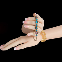 Реалистичные Силиконовые женский манекен рука палец кольцо браслет ювелирных изделий Дисплей подставка держатель пикантные Для женщин ру