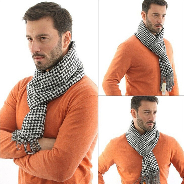 Check Patterned Men's Scarf