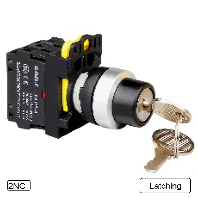 5 PCS 2-3 Position Selector switch Key-operated Latching or Momentary Waterproof IP65 1NO 1NC 2NO 2NC Pushbutton switch 1 no 1 nc three 3 positon rotary selector select switch latching 22mm