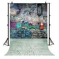 5x7ft Ziegel Wand Graffiti Berufs Polyester Foto Hintergrund Porträt Hintergrund-in Hintergrund aus Verbraucherelektronik bei