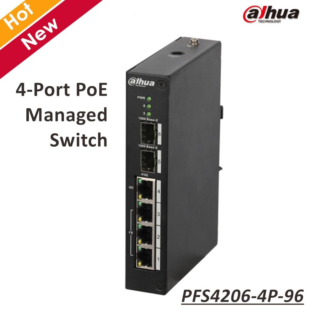 Original Export version Dahua 4 Port PoE Managed POE Switch without logo цена