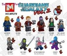 Single super heroes marvel Guardians of the Galaxy Vol 2 Rocket Groot Yondu building blocks models
