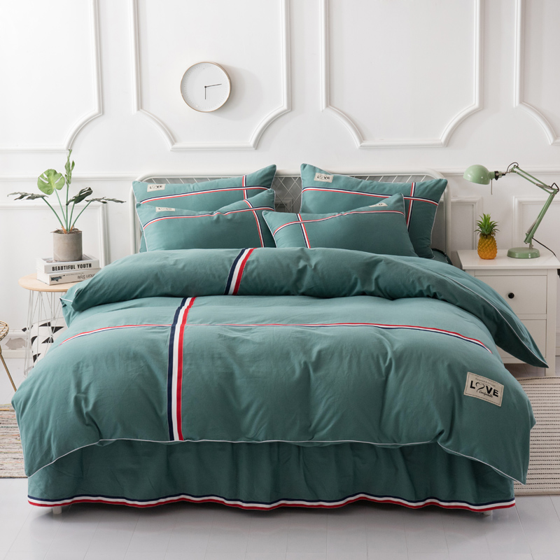 New 100% cotton bedding sets British Style  duvet cover set Quilt cover bed skirt pillowcase 4pcs Queen King New 100% cotton bedding sets British Style  duvet cover set Quilt cover bed skirt pillowcase 4pcs Queen King