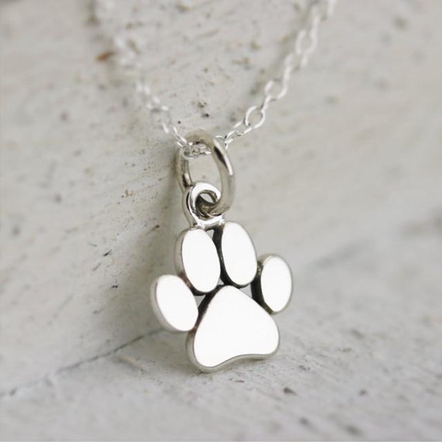 2016 fashion new design silver mini pendant necklace dog paw 2016 fashion new design silver mini pendant necklace dog paw charm necklace collaressmall aloadofball Image collections