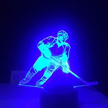 3D LED Ice Hockey Player Table Lamp USB Visual Luminaria Bedside Night Lights For Kids Gifts Baby Sleeping Lighting Sports Decor(China)