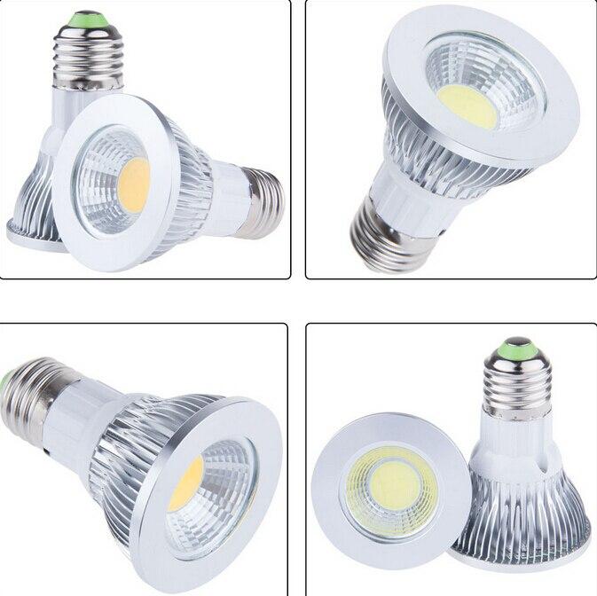 9W 3*3W E27 High Power COB LED Par20 bulb Spotlight Warm White Cool White Ceiling par 20 Lamp for bedroom illuminate
