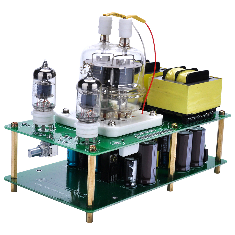 APPJ FU32/832A+6J1x2 New DIY Tubes Headphone Amplifier for DIYer FU32 Single-Ended Class A Tube Amplifier Audio Power Amp Board silver mini tube amplifier appj pa0901a 6n4 6p14 tube upgrade to el84 12ax7b original minwatt n3 smallest tube audio amplifier