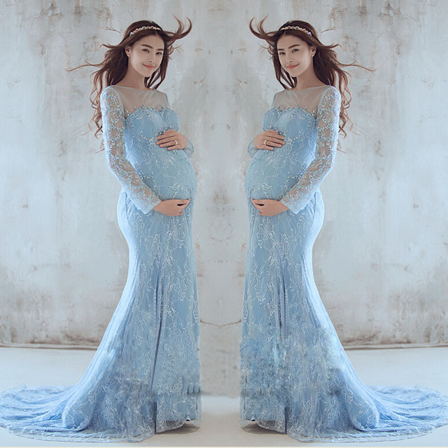 Maternity Pregnant Photography Props Luxury Sexy Lace Maternity