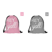 504f51fe130 Hey Yall Printed Drawstring Backpack Fashion Polyester Bags For Couples  Lovers Pouch Backpacks With Two Sided Printing