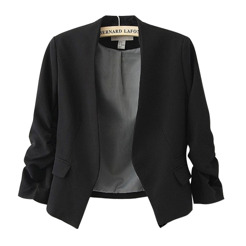 Ladies Blazer Long Sleeve Blaser Women Office Suit Jacket Femme Pink Blue White Black Blazer Autumn Female Feminine Blazer