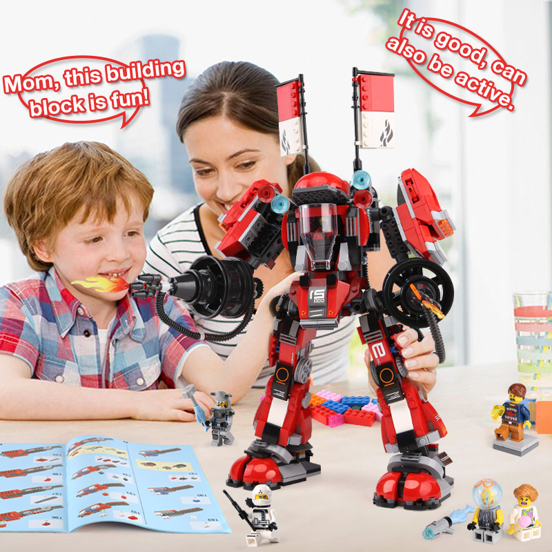In Stock lepin 06052 1010pcs Ninja Kay's Mecha Building Bricks Ninja Figure Toys For Children Compatible Legoing 70615 Ninjagoes lepin 06037 compatible lepin ninjagoes minifigures the lighthouse siege 70594 building bricks ninja figure toys for children