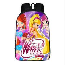 1cdd46e0db66 Winx Club бабочка принцесса Школьные ранцы сумка Mochila 3D мультфильм  ортопедические детские рюкзак для Обувь для