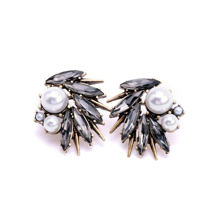 543a6c62a20e Aretes de Cristal Perla Simulada Para Las Mujeres de Moda Personalizada de  Color Oro estilo Indio Joyería