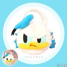 Cartoon Cute Donald Duck Mickey Minnie Stitch Plush Doll Messenger Bag Girls Shoulder Crossbody for Kids Gift