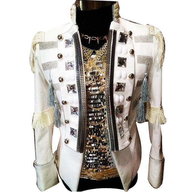 Модный мужчины смокинг для бально высокое качество танцор одежда из хлопка материал ночной клуб ну вечеринку износ производительность DH-016