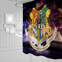 Harry Potter Series Logo Pattern Theme Fabric Shower Curtains Hooks and Mat Set Bathroom Curtain Polyester Bath Curtain Animal