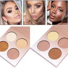 Miss Rose Maquiagem Highlighter Shimmer Em Pó Que Brilham Kit Blush Pó Facial Contour Highlighter Bronzer Iluminador Maquiagem Rum