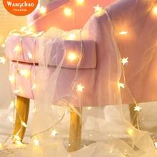 1,5 м 10 шт. светодиодный гирлянда со звездами, светодиодный Сказочный свет, Вечерние огни, батарея, работает, мерцающие огни, романтические свадебные украшения