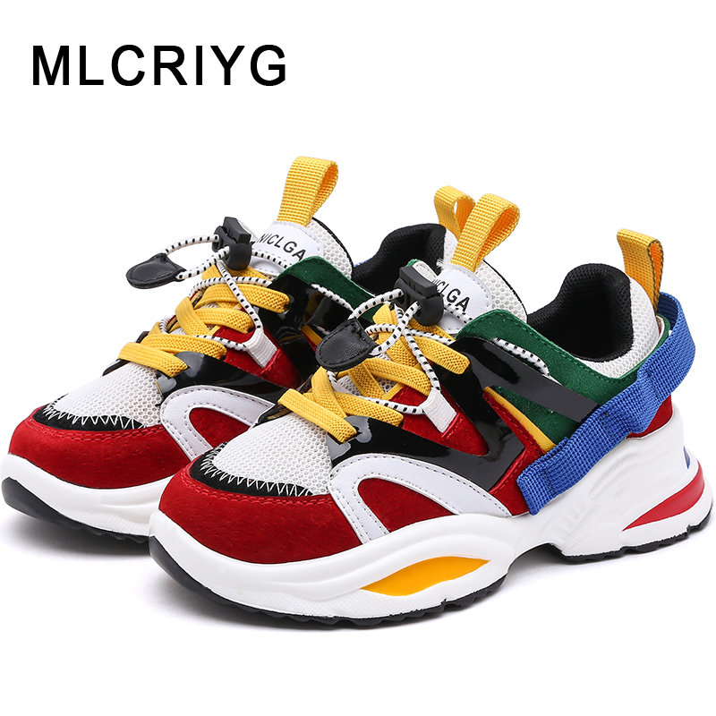 2019 Spring New Kids Genuine Leather Shoes Baby Girls Sport Sneakers Children Mesh Shoes Boys White Casual Shoes Brand Trainer