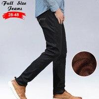 2016 Winter Men S Warm Fleece Jeans Plus Size Thicken Velvet Boot Cut Jeans Brand Classical