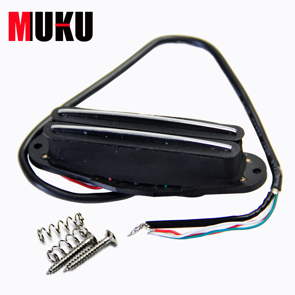 ▻4 Wires for Coil Tapping and No Noise Dual Hot Rail Humbucker ...