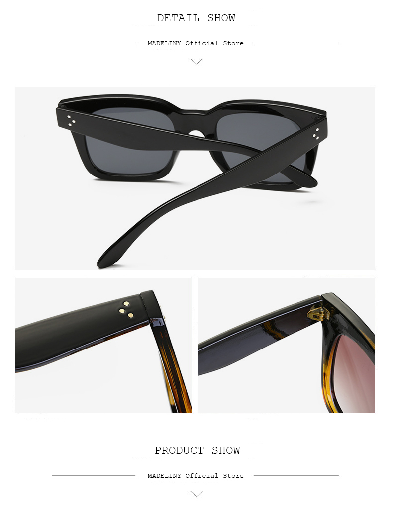 HTB1m H.X7fb uJkSmFPq6ArCFXap - MADELINY Fashion Sunglasses Women Vintage Brand Design Square Luxury Sun glasses Big Frame Shades Eyewear Oculos UV400 MA033