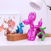 Sıcak satış parlak balon köpek soyut el sanatları reçine heykeli ev duvar süsü heykel ev dekorasyon aksesuarları