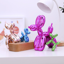 Shiny Balloon Dog Abstract Crafts Nordic Style Resin Statue Home Decor Art Sculpture Decoration Accessories Christmas Gift