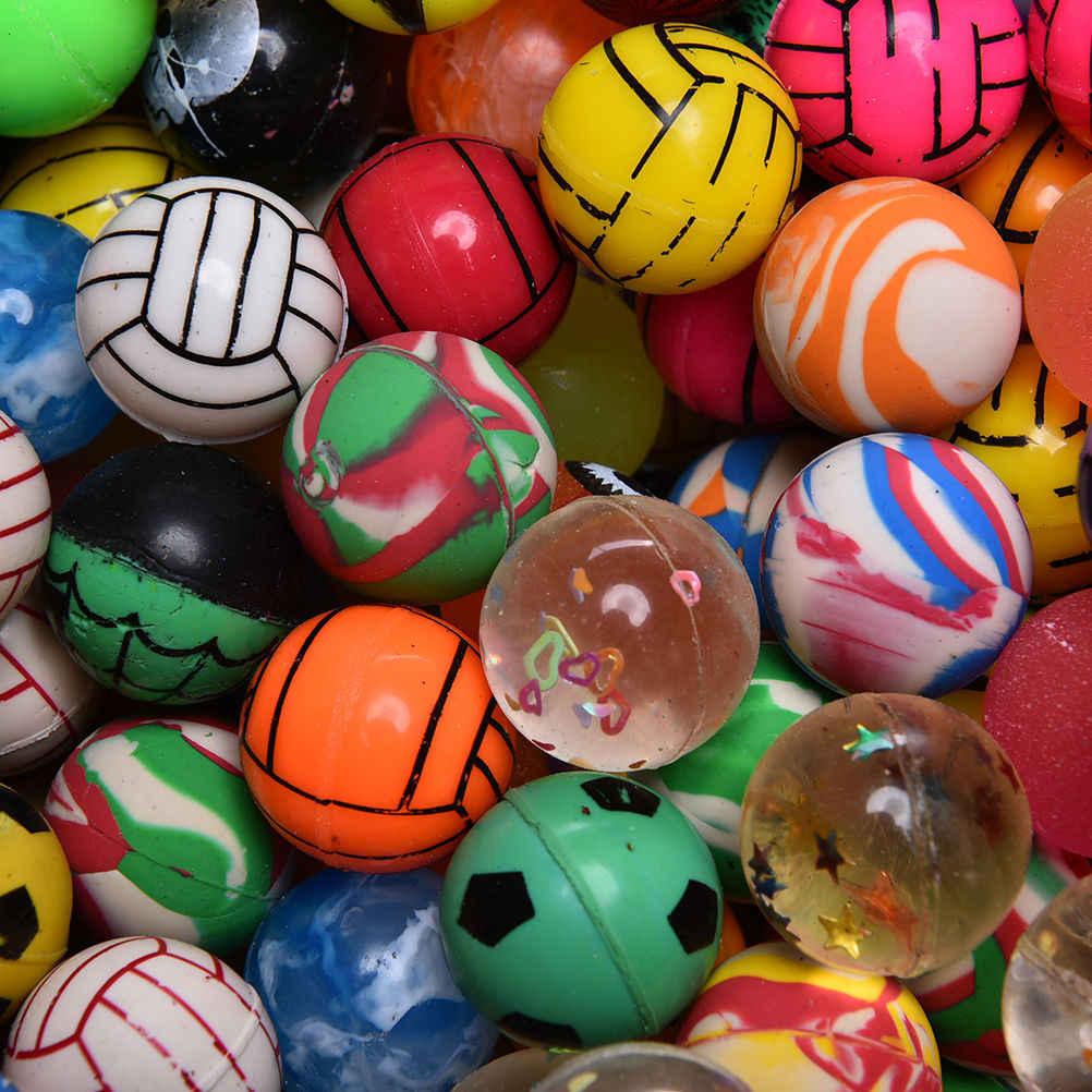 10 шт. шарф с подвеской шарик-Прыгун ребенок эластичный резиновый шар Дети день рождения мешок подарок игрушка забавные Игрушечные Мячи