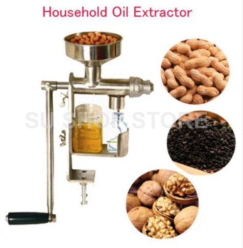 Manual Oil Press Machine Household Oil Extractor Peanut Nuts Seeds Oil Press Machine automatic mini oil press machine squeeze peanut oil pressing machine peanut sesame nuts corn oil machine hf 04 200w 220v 1pc