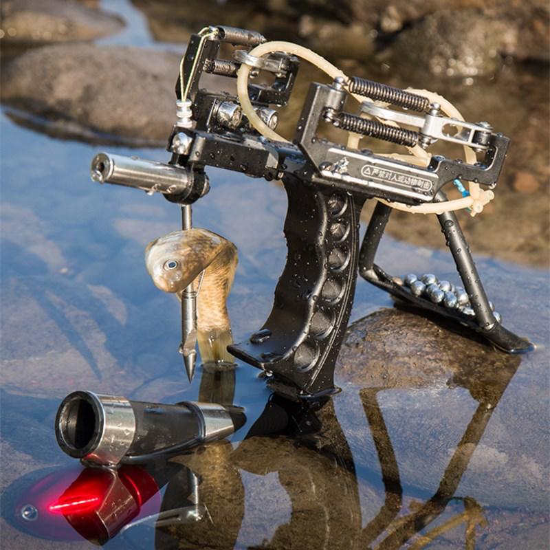 Red Laser Slingshot Black Red Hunting Slingshot Catapult Outdoor Powerful Fishing Slingshot for Shooting Arrows Crossbow