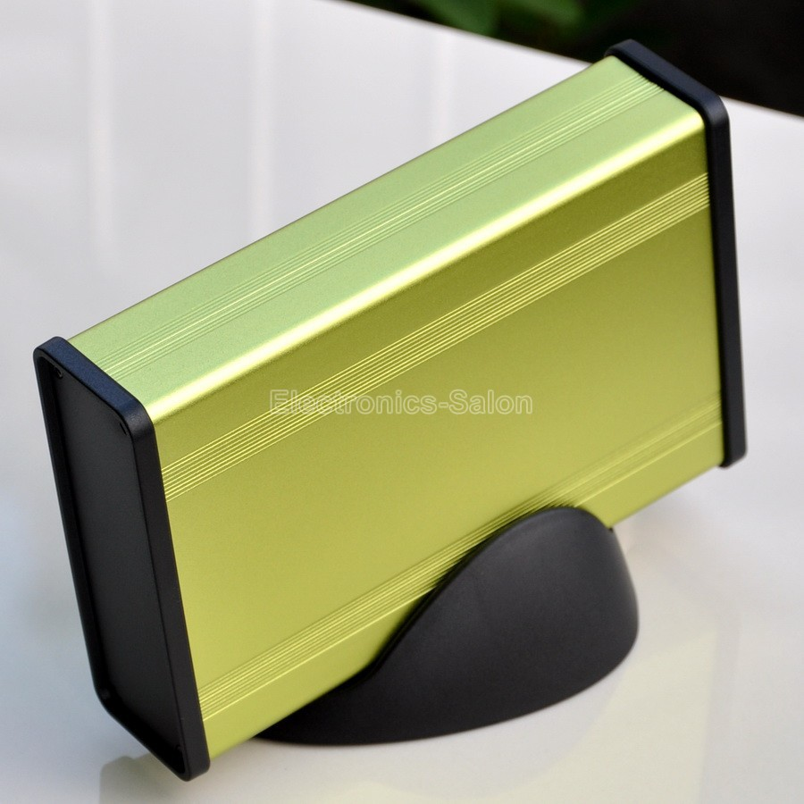 Aluminum Project Box Enclousure Case With Base, LawnGreen, 3.78
