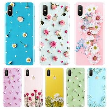 Flor Rosa teléfono funda para xiaomi mi 5 5C 5S 5X 6 6X 8 SE suave cubierta trasera de silicona para Xiaomi mi A1 A2 Lite mi 5 y mi 6 mi 8