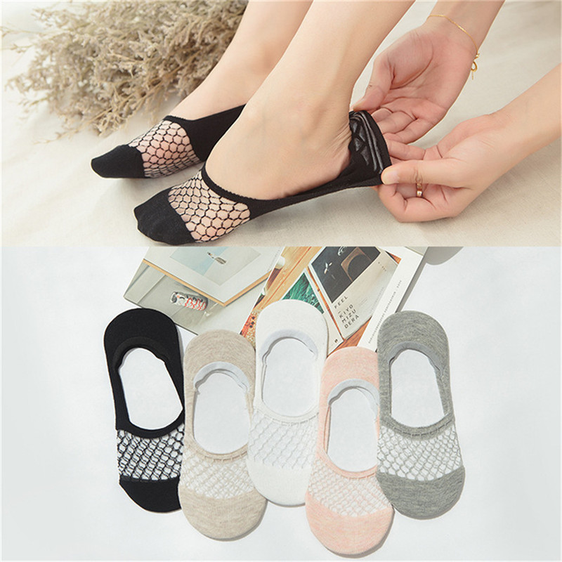 1Pair New Elegant Women Girls Cotton Comfortable Solid Dot Spring Summer Wear Low Ankle Invisible Elastic Short Socks