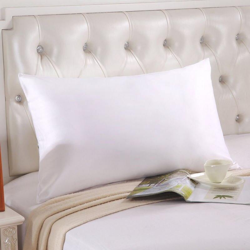 Funda de almohada de seda 100% pura seda de alta calidad personalizada de doble cara 20x30in funda de almohada de seda de mora funda de almohada para el hogar funda de almohada fronha