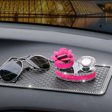 Almohadilla antideslizante para coche, emblema, almohadilla antideslizante de goma para barra adhesiva móvil, alfombrilla antideslizante para salpicadero, accesorios de estilo de vehículo, 1 unidad