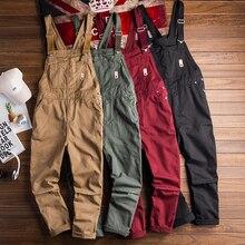 Европейский и американский уличный Stlye комбинезон Для Мужчин's Повседневное Ретро оснастки тенденция Комбинезоны Мода пара брюк хорошее качество