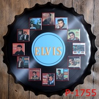 40cm Personality Beer Bottle Cap Metal Plaques Fashion Vintage Tin Signs Bar Coffee Art Plaque Neon